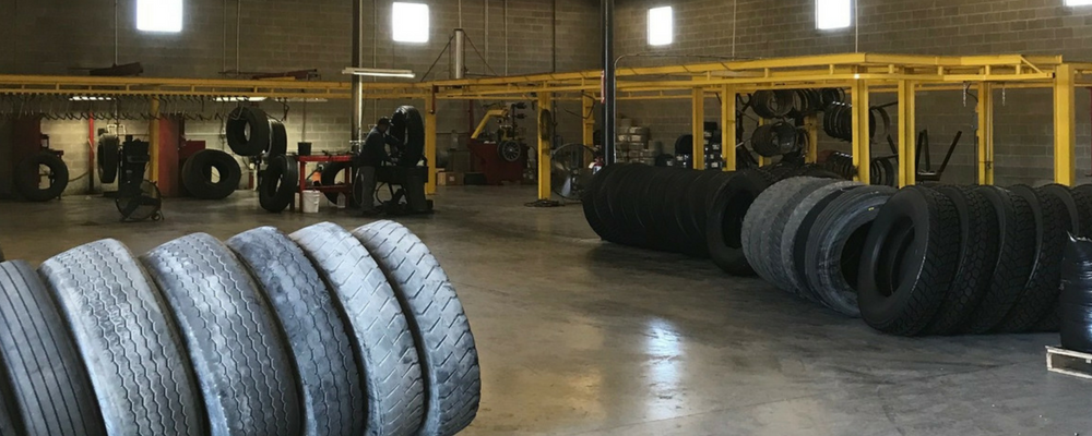 tires in tire retreading shop